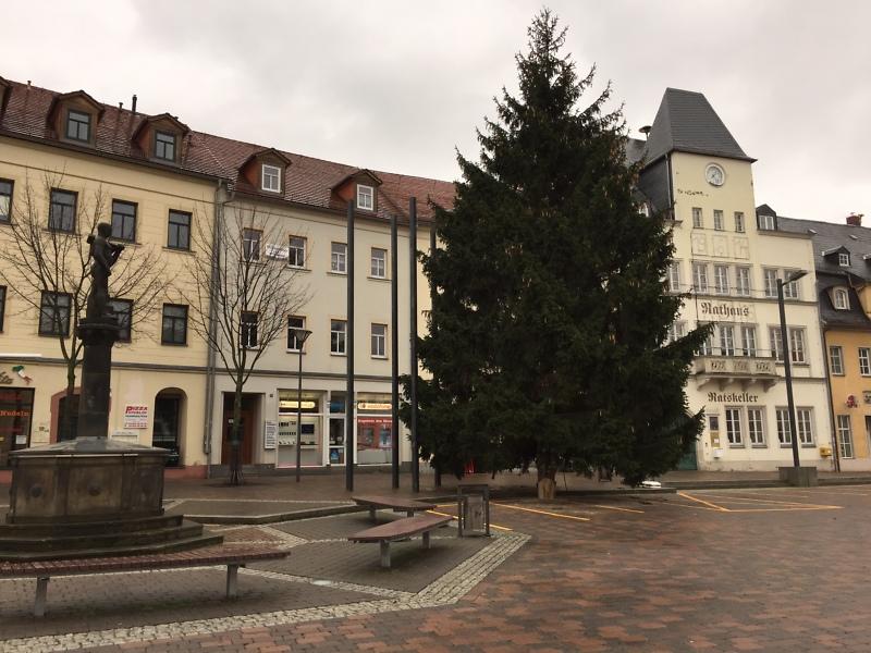 Weihnachtsmarkt Frankenberg.Stadt Frankenberg Sachsen